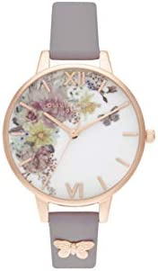 Olivia Burton Womens Quartz Watch, Analog Display and Leather Strap OB16EG129