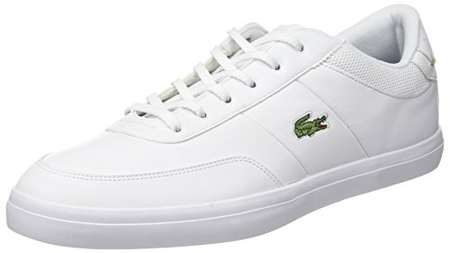 Lacoste Herren Court-Master 118 2 Cam Sneaker, Weiß (WHT/Nvy), 46 EU