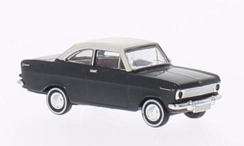Opel Kadett A Coupe , dunkelgrau/weiss, Modellauto, Fertigmodell, Brekina Drummer 1:87