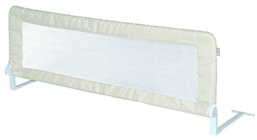 Preisvergleich Produktbild roba Bettschutzgitter Klipp-Klapp, klappbares Bettgitter für Babys & Kinder, Rausfallschutz 100 cm, für Matratzen von 14 bis 25 cm geeignet, beige