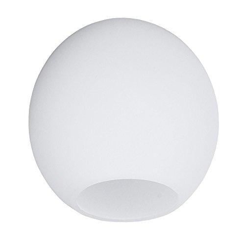 Ersatzglas rund Lampenglas Ø 10cm | Lampenschirm weiß matt Leuchten Glas Zubehör Opalglas