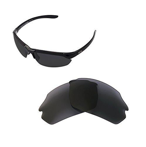 Walleva Ersatzgläser für Smith Parallel Max Sonnenbrille - Mehrfache Optionen (Schwarz - polarisiert)