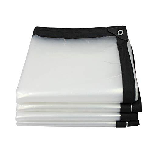 Plane Regendichte Leichte Sonnencreme Outdoor Insulation Canopy Canvas Plane Schatten Wachstuch, Klar, 120g / m² (größe : 4×10m) (Canvas-planen Klar)