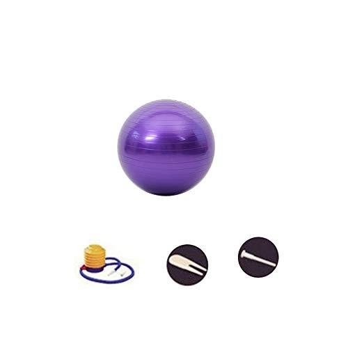 SENDILI Accesorios Gimnasio - Pelotas Ejercicio incluida la Bomba de Pie para Yoga, Fitness, Hombres y Mujeres, Púrpura-1, 45CM