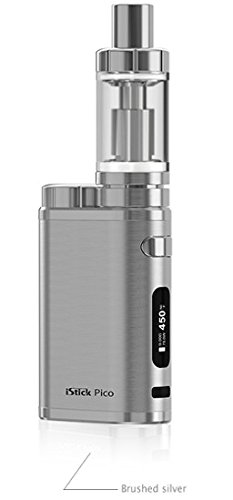 Eleaf iStick Pico TC 75 Watt / MELO 3 Verdampfer 4ml Komplett Set, brushed silver