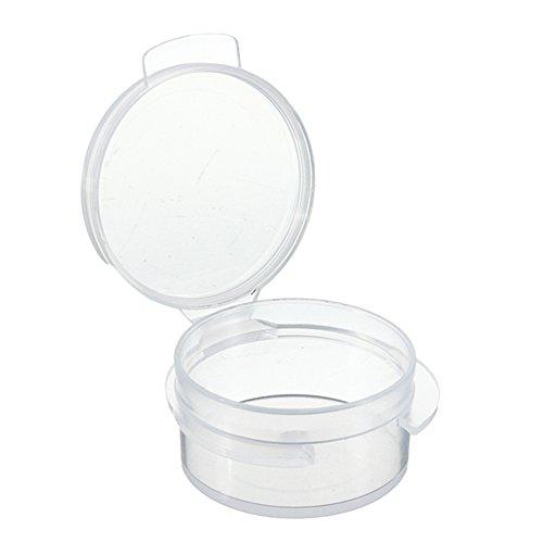 50pcs viaje transparente 5G Mini cosméticos muestra contenedor de botellas de plástico portátil Maquillaje Crema Loción bálsamos labiales tarro de almacenaje macetas