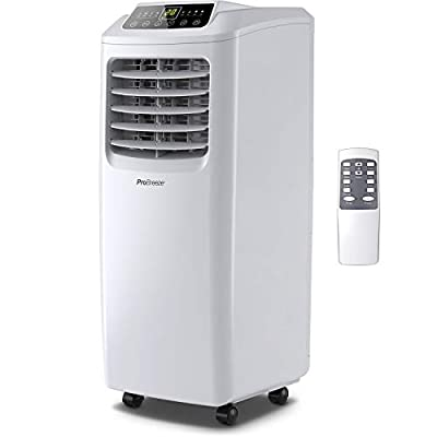 Pro Breeze 4-in-1 Portable Air Conditioner 9000 BTU with Remote Control, 24 Hour Timer & Window Venting Kit Included. Powerful Air Conditioning Unit with Class A Energy Efficiency Rating