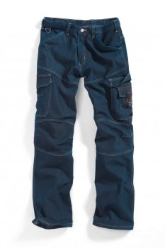 Arbeitshose BP WORKWEAR 1466 Jeans Deep Blue Stone Gr 44-64, 90-110, 24-28