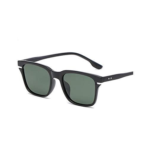 Sportbrillen, Angeln Golfbrille,Polarisiert Sunglasses Women Men Fashion Square Brand Design Vintage Driving Polaroid Sun Glasses UV400 Shades Male Eyewear as picture Black