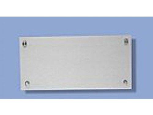Wand-Display Plate B 30cm Schild 30x20cm Edelstahl Schildersystem Leitsystem