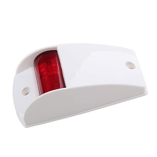 perfeclan LED Navigationslichter Taschenlampe Lampe UV-stabilisierte, Kunststoffgehäuse - rot