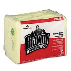 georgia-pacific-29616-brawny-industrial-dusting-cloths-quarterfold-17-x-24-yellow-50-pack-4-carton-b