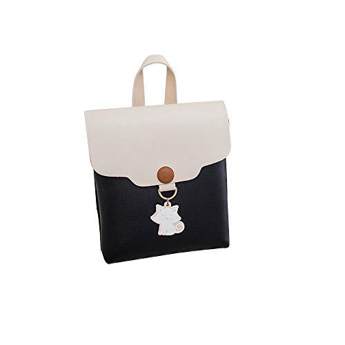 Bfmyxgs Mode Umhängetaschen für Frauen Studentin PU Japan und koreanischen Stil Flap Soft Hasp Square Closure Softback mit Katze Anhänger Cover Hasp Crossbody Tasche Schultertasche Telefon Münztüte - Tasche Koreanischen