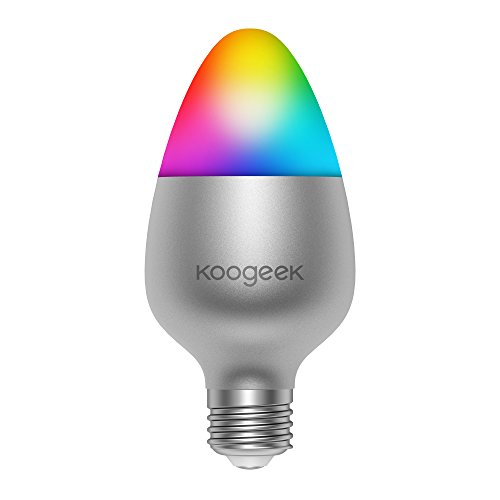 Koogeek Bombilla Wifi LED Luz Regulable E27 8W Funciona con Homekit 2.4 Ghz 16 Millones Colores Siri Control APP Home Control Remoto500LM 2700-6000K