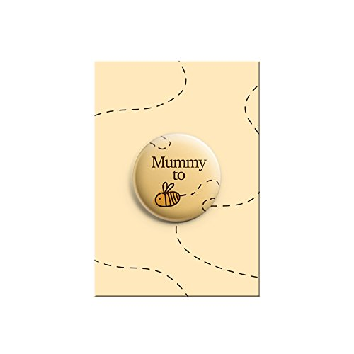 Promofix Mummy to be Bumble Bee Cute Baby Dusche Ankündigung Geschenk Button Pin Badge 38mm