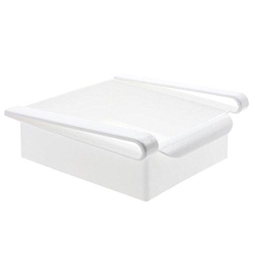 WEKA Regal Halter Speicher Organisator Rutsche Retter Raum Küche Gefrierschrank Kühlschrank Weiß - Trinken Locher