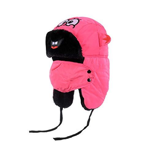 -Mütze Bomberhüte Winter Plus Samt Dicke Winddichte Kopfhörer Hut Lei Feng Hut Pilot Hut,Children's-Rosered ()