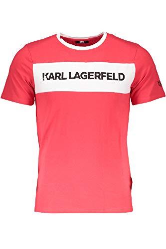 Karl Lagerfeld KL18TS02 T-Shirt mit Kurtzen Ärmeln Harren Rosso RED L