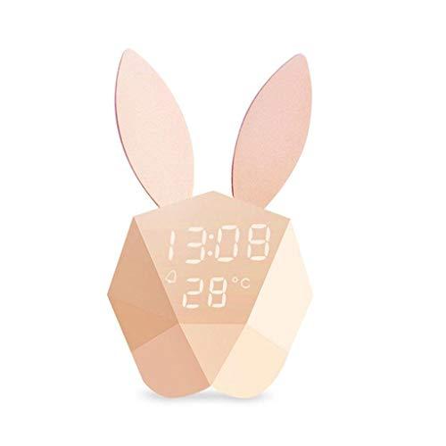 Luces Despertador Digital Reloj 6 Tonos Timbre Control