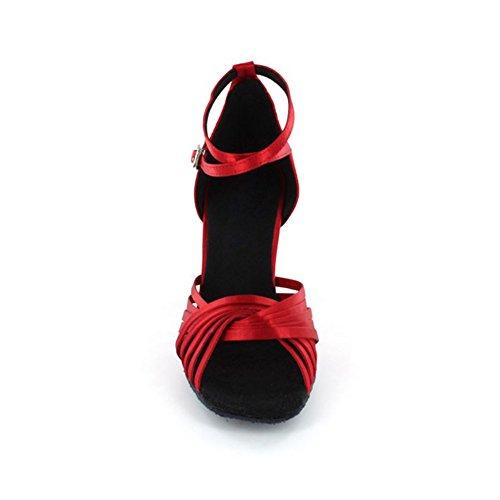 KAI-ROAD Damen Tanzschuhe, Rot - Rot - Größe: 38 - 4