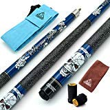 CUESOUL 57 inch 20oz 1/2 Maple Pool Cue Stick Kit- Rock The World