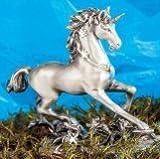 Berg Unicorno Simia–stagno figura con cristalli 11x 4x 8,5cm