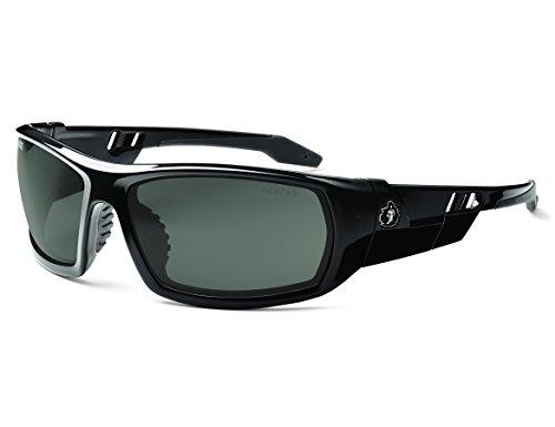 Ergodyne Skullerz Odin Polarized Safety Sunglasses - Black Frame, Smoke Lens by Ergodyne