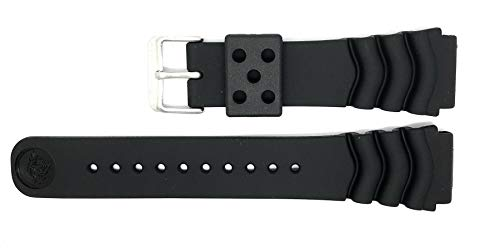 Genuine Seiko Z22 22mm Replacement Black Divers Watch Strap ZTA05J (4FY8JZ alternative) for Seiko Divers Watches