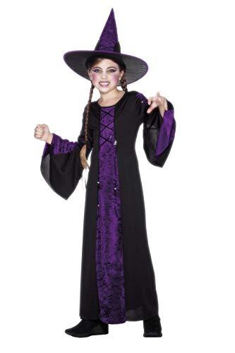 Smiffys Kinder Verzaubert Kostüm, Kleid und Hut, Alter: 4-6 Jahre ()
