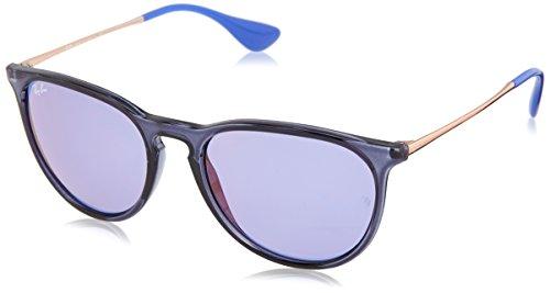 Ray-Ban Unisex-Erwachsene 0RB4171 6338D1 54 Sonnenbrille, Transparent Blue/Darkvioletmirrorred,