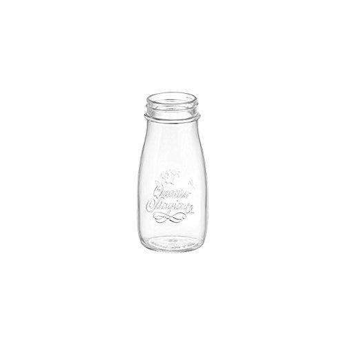 fimel- Flacon quatre saisons en verre transparent, 40 cL de bormioli rocco.