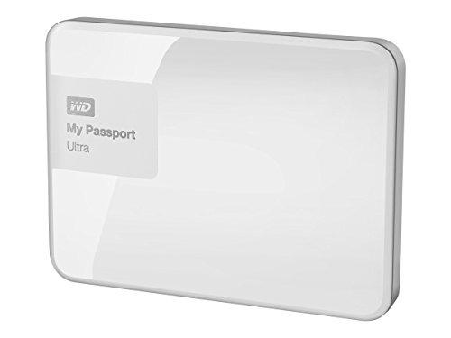 Western Digital 2TB My Passport Ultra Portable External Hard Drive with USB 3.0 (White)