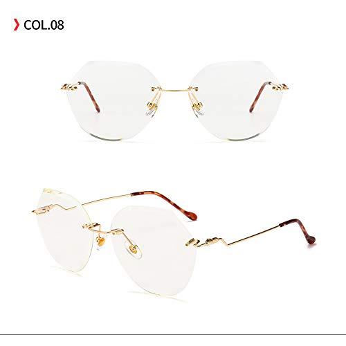 Yangjing-hl Jahr Polygon Fashion Sonnenbrillen Sonnenbrillen Trend Retro Brillen Transparente Farbe