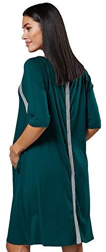 Happy mama donne maternità stampato consegna ospedale camicia notte 534 p (verde scuro, it 42/44, s)