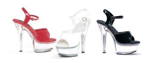 Ellie Shoes, Sandali donna 40 Black on Clear