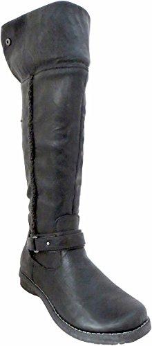 Overknee Stiefel/Knie, Schwarz - schwarz - Größe: 36 ()
