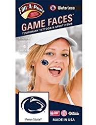 Fan A peel Penn State (PSU) Nittany Lions–wasserloses Abziehen & Aufkleben Temporäre Spirit Tattoos–4-tlg–Dark Royal Blue Lion Head Oval Logo