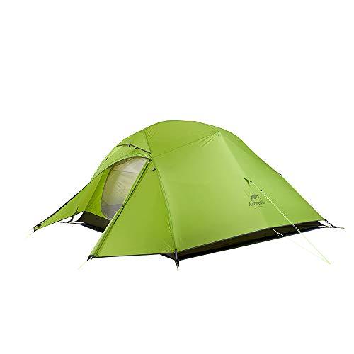 Naturehike Neu Cloud-up 3 Upgrade Ultraleichte Zelte 3 Personen Zelt 3-4 Saison für Camping Wandern (20D Hellgrün Upgrade)