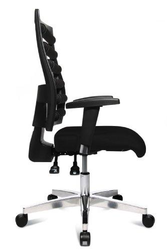 Topstar WO9TT200 Bürodrehstuhl Workout inklusive höhenverstellbare Armlehnen / Bezugstoff schwarz - 3