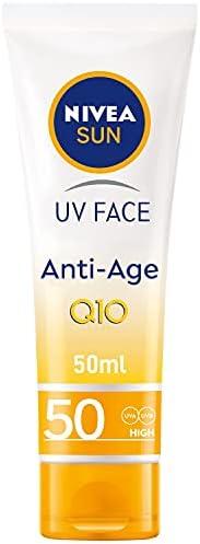NIVEA SUN UV Face Anti-Age Face Cream, SPF 50, Tube 50 ml