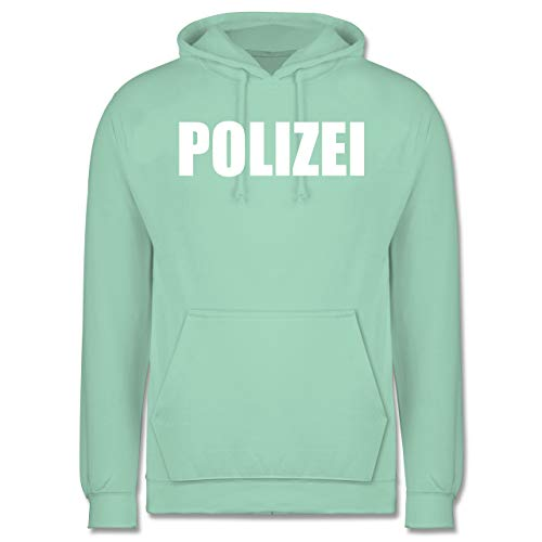 Kostüm Für Gruppe Arbeit Lustige - Karneval & Fasching - Polizei Karneval Kostüm - XXL - Mint - JH001 - Herren Hoodie