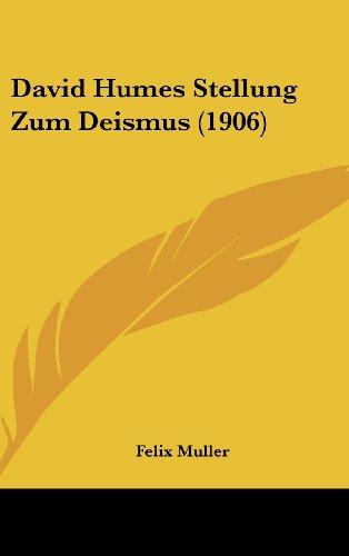David Humes Stellung Zum Deismus (1906)