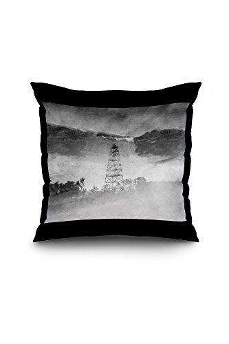 drewrys-bluff-va-signal-tower-at-ft-darling-civil-war-photograph-18x18-spun-polyester-pillow-case-bl