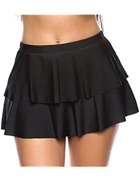 Raffinierter Damen Bikini / Strand Rock mit integrierter Hose / Volant / Verschiedene Designs 1086S-f3642