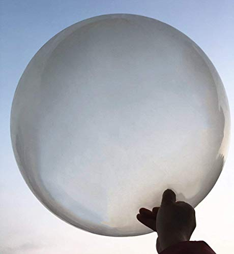 6 Zoll Runde Ballons - Extra große und Dicke Ballons Wiederverwendbare Riesen Latex Ballons für Hochzeit / Geburtstag Party Dekorationen Festivals Weihnachtsschmuck (klar) ()