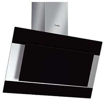 Bosch DWK09M760 hotte - hottes (Mural, Conduit / Recirculation, Halogène, Noir, Acier inoxydable, boutons, Verre, Acier inoxydable)