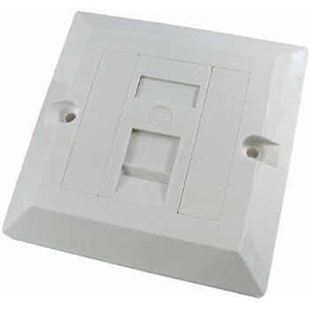 1 Port Single Socket RJ45 Network Cat 5e FacePlate Ethernet Wall Plate