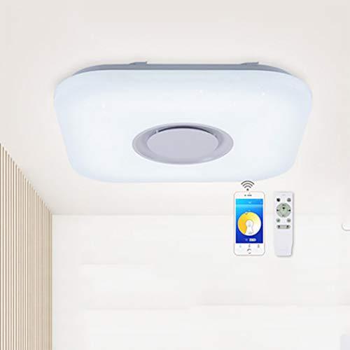 LED-Deckenleuchte mit Bluetooth-Lautsprecher LED-Musik-Deckenleuchte 26W 15 Zoll, Mobiltelefon-APP und Fernbedienung RGB-Farbwechsel und Licht dimmbar 850 Bluetooth