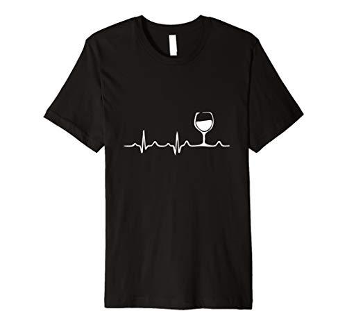 Herzschlag Wein, Verkostung, Weinprobe T-Shirt