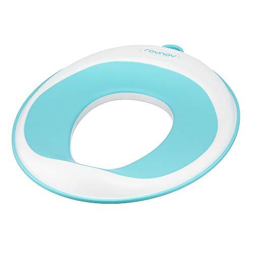 roynoy | Toilettensitz für Kinder | ideal für unterwegs | Klositz ab 2 Jahre | WC Aufsatz mit Aufhänger | weiß mint